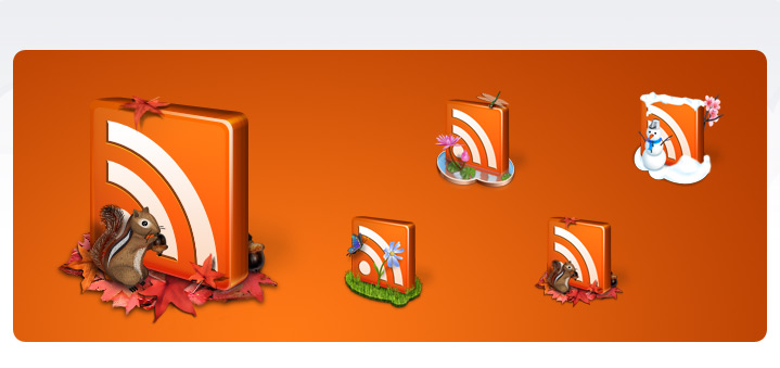 Seasonal RSS Icons